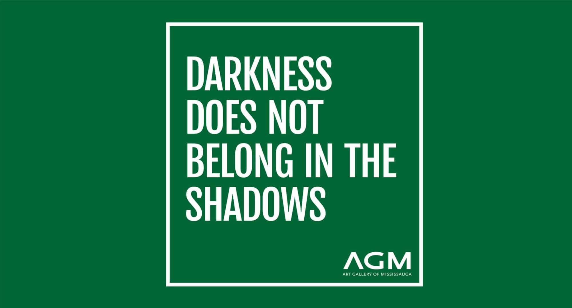 darkness does not belong in the shadows